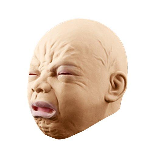 Tinksky Halloween Baby Maske Kopfmaske für Halloween Maskerade Fasching Party Kostüm (Lustige Baby Halloween Kostüme)