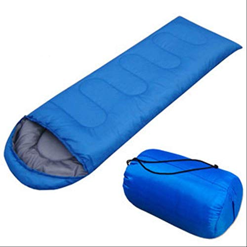 RTGFS Schlafsack Umschlag mit Kapuze für Erwachsene Outdoor Camping Supplies Frühling, Sommer, Herbst und Winter Jahreszeiten Schlafsack 700G Umschlag mit Hut Blau - Coleman Damen Schlafsack