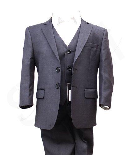 Italie Maillot Garçon-Gris Anthracite-découpés pour mariage Bal de costumes tailleurs un garçon d'honneur SIRRI
