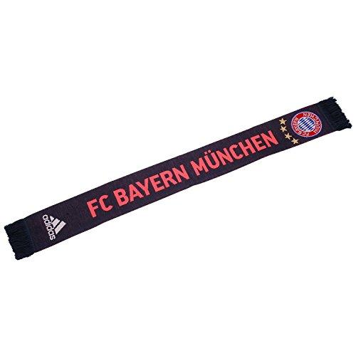 adidas Herren Schal FC Bayern München, Night Navy/Flash Red S15/White, OSFH