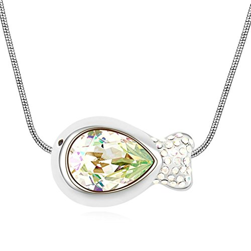 amdxd-jewelry-alloy-pendant-necklaces-for-women-fish-light-green-16x24cm