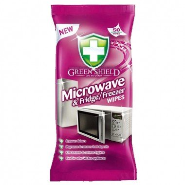 Greenshield Microwave and Fridge Freezer Wipes – Pack of 50