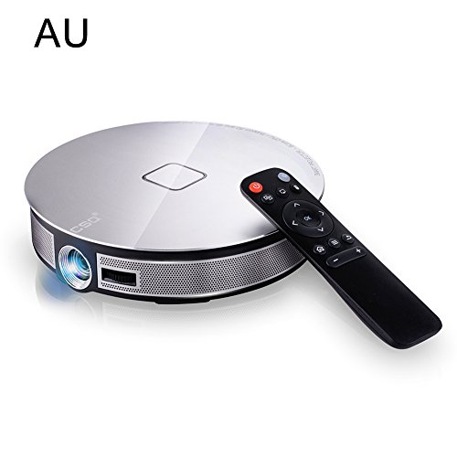 D8s Portable Smart Home Android6 0 Video Projector Wifi Bluetooth Led Multimedia Theater Cinema Ultra Hd Csq Dlp 3500 Lumens Rk3368 Octa -Core 2g 32g With Android 6 0 Os 5g 4k Full Hd1080p 3d Hdmi-In  3500 lumens