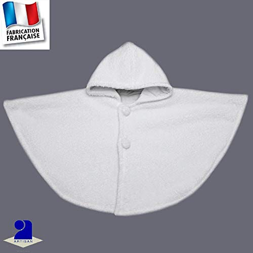 Poussin bleu - Cape baptême polaire à poils longs Made in France Taille - 0  à f821b31590f