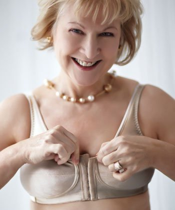 Mastectomy Bra The Rose Contour Front Close/Back Adjustment Size 42D Beige by ABC