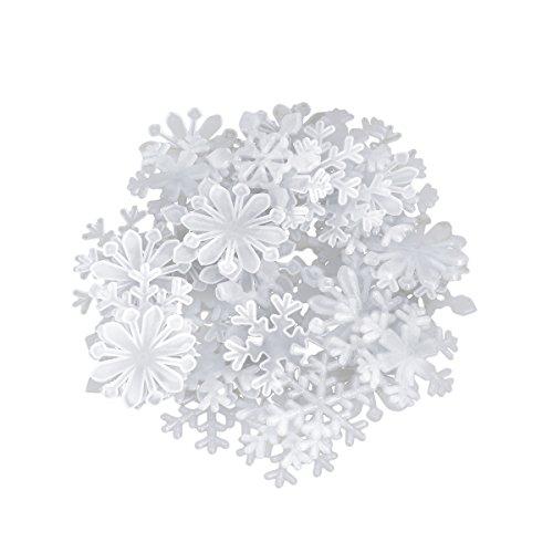 BESTOYARD 50 Stücke Luminous Snowflake wandaufkleber Weihnachten wandaufkleber Fenster klammert Weihnachten wohnkultur Hintergrund Dekoration ()