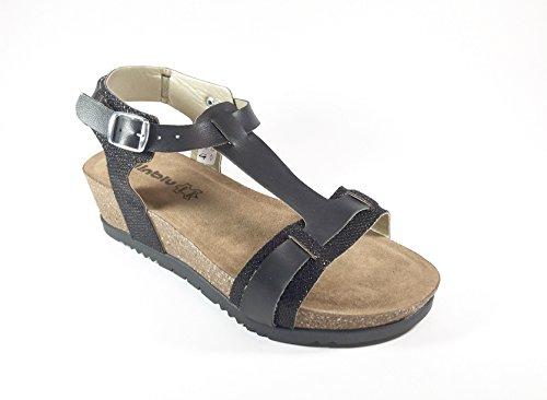 INBLU , Damen Sandalen mehrfarbig mehrfarbig 35 Schwarz