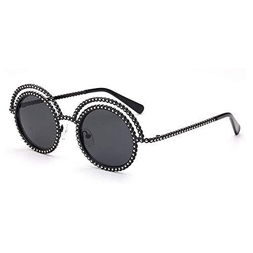 XHCP Frauen Polarisierte Klassische Aviator Sonnenbrille, Persönlichkeit Rahmen Punk Stil Runde Form Sonnenbrille Für Männer Frauen UV400 Schutz Fahren Radfahren Laufen Angeln Golf (Farbe: C1)