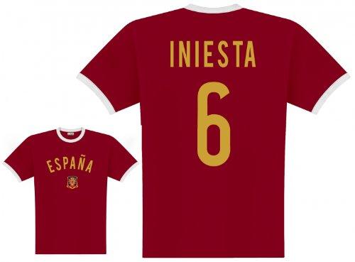 Startelf T-shirt (World of Football Player Shirt Spanien Iniesta - L)