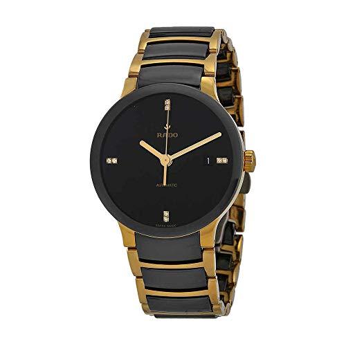 Rado, Centrix, orologio da uomo, con quadrante nero. Ceramica nera e...