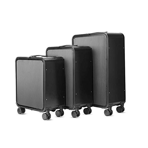 Tronco Set valigie valigie Set 3 pezzi Valigie valigie trolley 8 con ruote girevoli e lucchetto TSA adatto for Business Travel Academy (16 pollici 20 pollici 24 pollici), A (Color : B)
