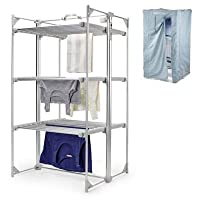 Dry:Soon Deluxe 3-Tier Heated Airer and Blue Cover Offer Bundle