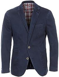 Casa Moda - Herren Casual Sakko/Blazer mit Print Muster in Blau (25530 A)