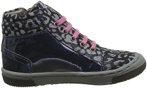 Mod8 Irene 2, Chaussures Premiers Pas Bébé Fille Bleu (Marine imprimé)