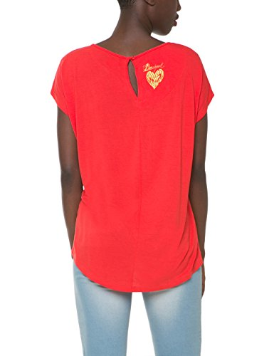 Desigual Damen T-Shirt Anémona Rot (POPPY CORAL 7058)