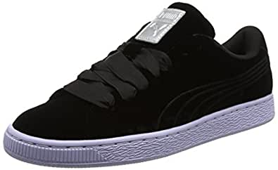 Puma Damen Basket Platform VR Sneaker, Schwarz (Black-Black), 39 EU