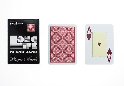 Ntp 00033 - black jack carte da gioco, rosso