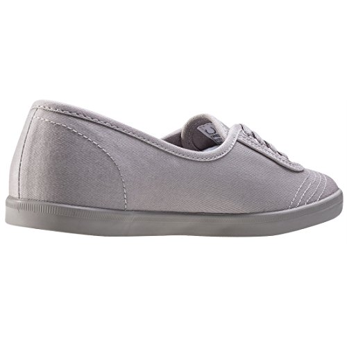 Fred Perry Aubrey Twill Damen Sneaker Grau Silver