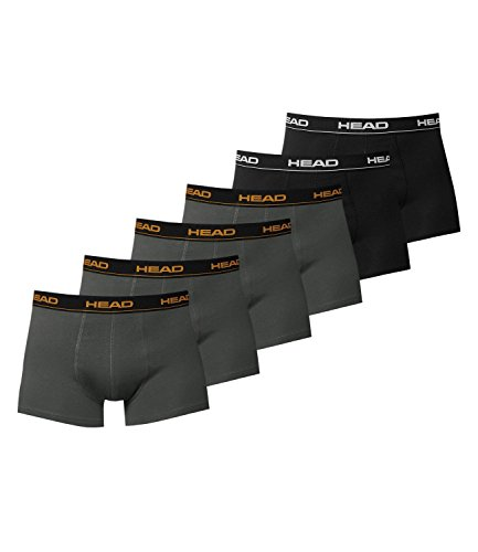 HEAD Men Boxershort 841001001 Basic Boxer 6er Pack 2x black 4x dark shadow