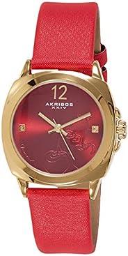 Akribos XXIV Dress Watch Analog Display Japanese Quartz for Women AK902RD