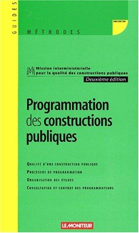 Programmation des constructions publiques
