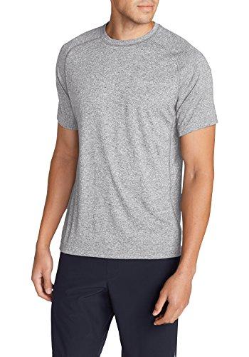 Eddie Bauer Herren T-Shirts Sportshirt Kurzarm Hellgrau Meliert