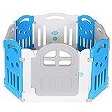 Grand Parc Bébé 8 Cotes avec Porte Pliable Enfant Plastique Xl