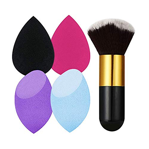 Beauty,Make-up Schwamm,Beauty Blender,Make-Up Blender Schwamm,1er Pack (1 x4 Stück +Make-up Pinsel)