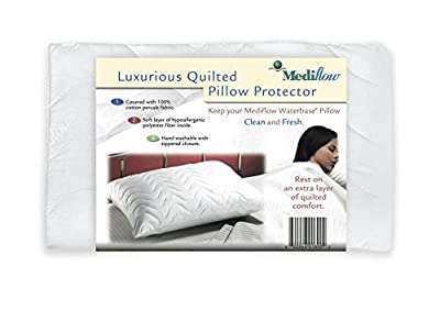 Mediflow Luxury Quilted Pillow Protector, White
