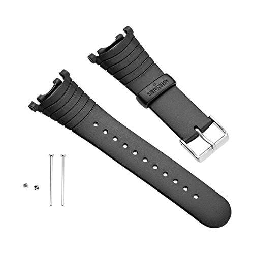 Suunto ss004768000 kit cinturino montato di serie in gomma/elastomero, nero