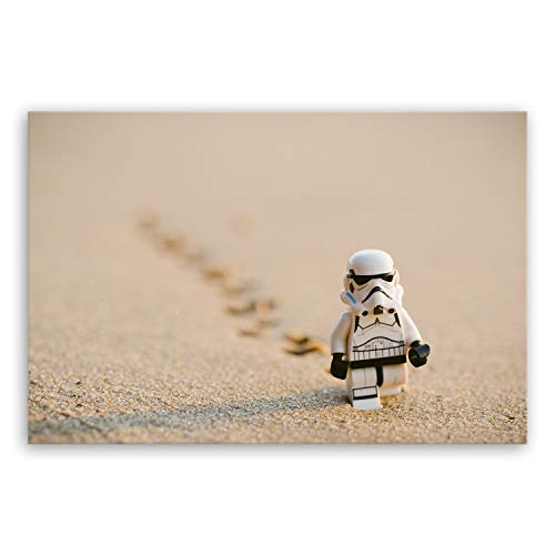 ge Bildet !!! SENSATIONSPREIS Hochwertiges Leinwandbild - Stormtrooper IV Walking - 30 x 20 cm einteilig | Angebote der Woche Geschenke für Frauen Geschenke für männer |