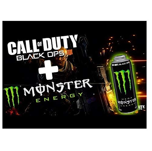 24 x Monster Energy Drink (24 x 0,5L) Call of Duty Black Ops 4 (ohne DPG (Europa)) - Duty Energy Monster Call Of