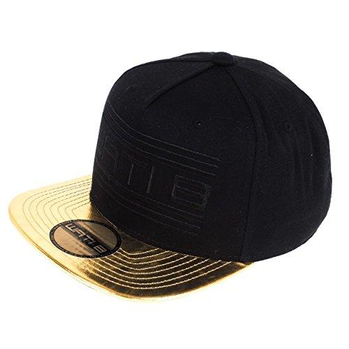Wati b-Leather sb nero oro americana jr-Berretto, taglia unica, colore: nero