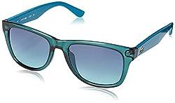 Lacoste L734S Wayfarer Sunglasses, Blue, 52 mm