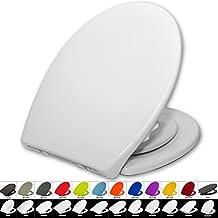 Toilettensitz WC-Sitz mit Absenkautomatik, #22, Kunststoff, Fix-Clip, Mit integriertem Kindersitz Softclose, Antibakteriell, (WS2601 Weiß)