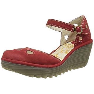 Fly London Women's YUNA Closed Toe Heels, (Lipstick Red 135), 4 (37 EU)