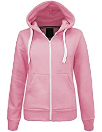 Amazon.co.uk: Pink - Hoodies / Women: Clothing