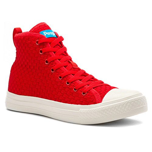 People Footwear The Phillips High Maschenweite Turnschuhe Supreme Red/Picket White