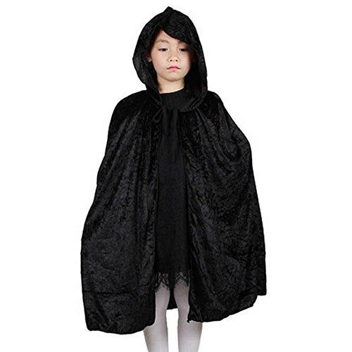 DAYAN Kinder Halloween Azrael Cosplay schwarzen Mantel Kostüm For Cosplay Maskerade (Motto 007 Kostüme)