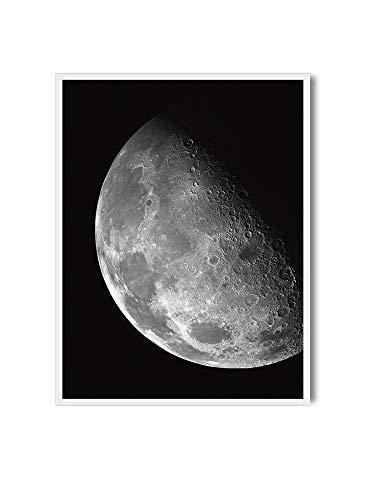MILUKA Láminas Decorativas para enmarcar colección Moon | Crescent Moon | Tamaño 20x30cm, 30x40cm, 50x70cm (50 x 70 cm)