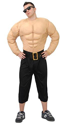 Pack Kostüm Six Fake - Muskelmann - Kostüm für Männer Gr. M/L, Größe:L