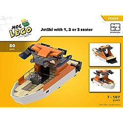 WakeBoard Boat (Instruction Only): MOC LEGO (English Edition)