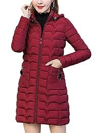 15790a9e6caff MISSMAO Parka Elegant Doudoune Hiver Femme Manteau Capuche Mi-Longue Chaud  Blouson Jacket Vintage Doudoune