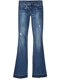 Liu Jo Damen Flared Jeans Bottom Up Beat Regular Waist