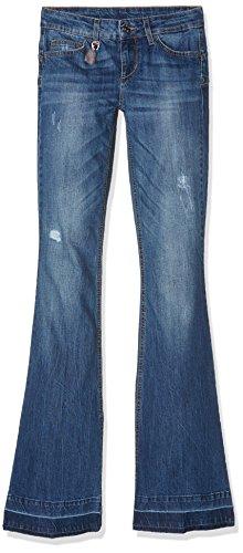 liu jo Bottom Up Beat Regular Waist, Jeans Donna Blu (Long.Blue blond Wash 7L909)
