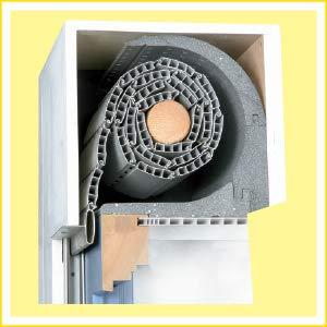 DiHa Rollladenkasten-Isolierung, Rollladenkasten Dämmung ROKA-ASS® 2-tlg. rund, Stärke 15 mm (Verschlußdeckel 175 mm)