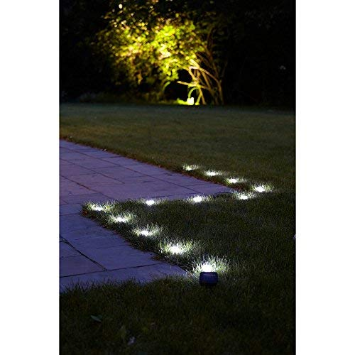 LED Solar Rasenkantenstein Promenade 2er Set mit je 12 Leuchten Lampen Lichter