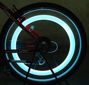 RICISUNG Hot sale Double faced bicycle spoke light wind fire wheels silica gel spoke light steel wire lamp mountain bike wheel light