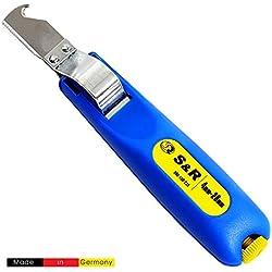 S&R Dénudeur de câble 4-28 mm. Couteau Electricien à degainer. Made in Germany (4-28 mm)