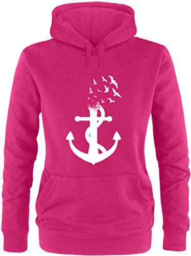 Billabong-strampler (EZYshirt® Anker Ocean Damen Hoodie | Damen Kapuzenpullover | Damen Pullover)